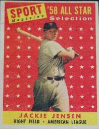 Jackie Jensen American Baseball Player For Boston Red Sox